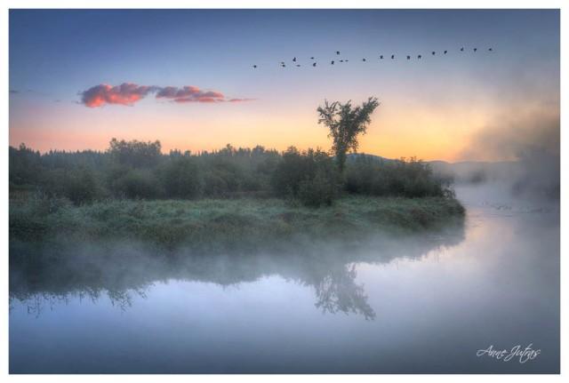 Bromont, lever de soleil, envolée, liberté, introspection,